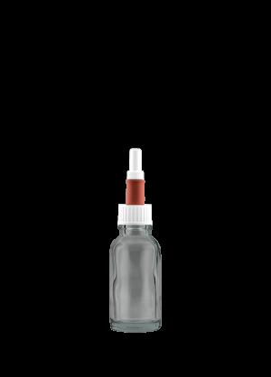 Tropferflasche 20 ml klar mit Augentropfer-Verschluss