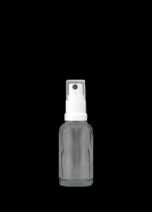 Tropfflasche 20 ml klar mit topischer Pumpe