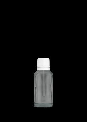 Tropfflasche 20 ml klar mit Spatelschraubverschluss mit Originalität