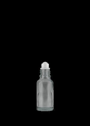 Tropfflasche 20 ml klar (GL18) mit Kugel-Fitment und PP-Kugel