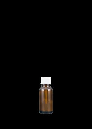 Tropfflasche 20 ml braun mit Pinselschraubverschluss mit Originalität