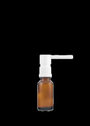 Tropfflasche RDS 20 ml braun mit oraler Pumpe weiß mit Schutzkappe