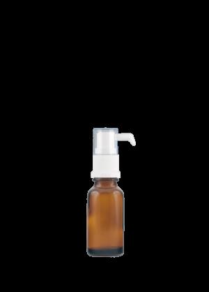 Tropfflasche RDS 20 ml braun mit Tropfenspender-Pumpe