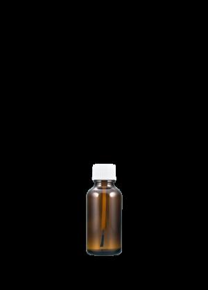 Tropfflasche 30 ml braun mit Pinselschraubverschluss konisch