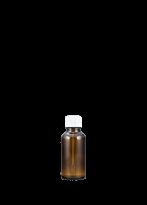 Tropfflasche 30 ml braun mit Spatelschraubverschluss konisch