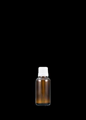 Tropfflasche 30 ml braun mit Spatelschraubverschluss mit Originalität