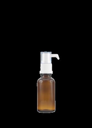 Tropfflasche RDS 30 ml braun mit oraler Pumpe
