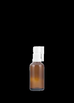 Tropfflasche 50 ml braun mit oraler Pumpe