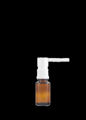 Tropfflasche RDS 15 ml braun mit oraler Pumpe weiß mit Schutzkappe