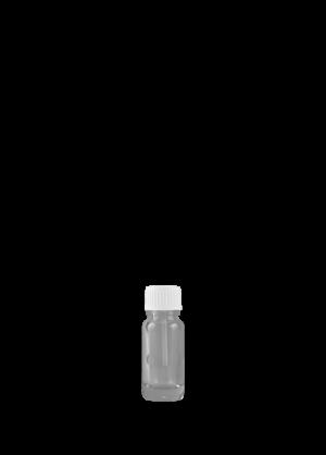 Tropfflasche 10 ml klar mit Spatelschraubverschluss konisch