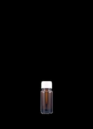 Tropfflasche 10 ml braun mit Pinselschraubverschluss konisch