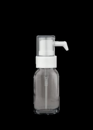 Snap-on-Flasche 10 ml klar mit Tropfenspender-Pumpe