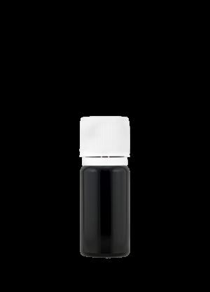 Tropfflasche 10 ml violett mit kindergesichertem Originalitätsverschluss mit Gießring