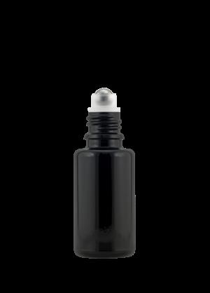Tropfflasche 20 ml violett (GL18) mit Kugel-Fitment und Edelstahlkugel