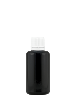 Tropfflasche 30 ml violett mit Randtropfer-Schraubverschluss mit Originalität