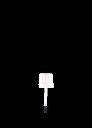 Closure with brush
