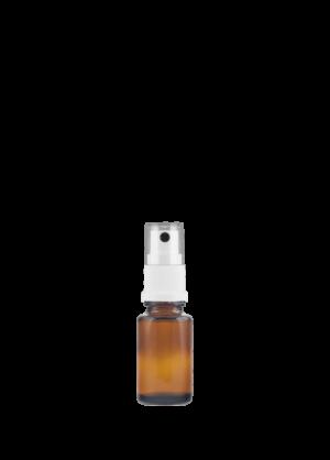 Tropfflasche RDS 15 ml braun mit topischer Pumpe weiß mit Schutzkappe