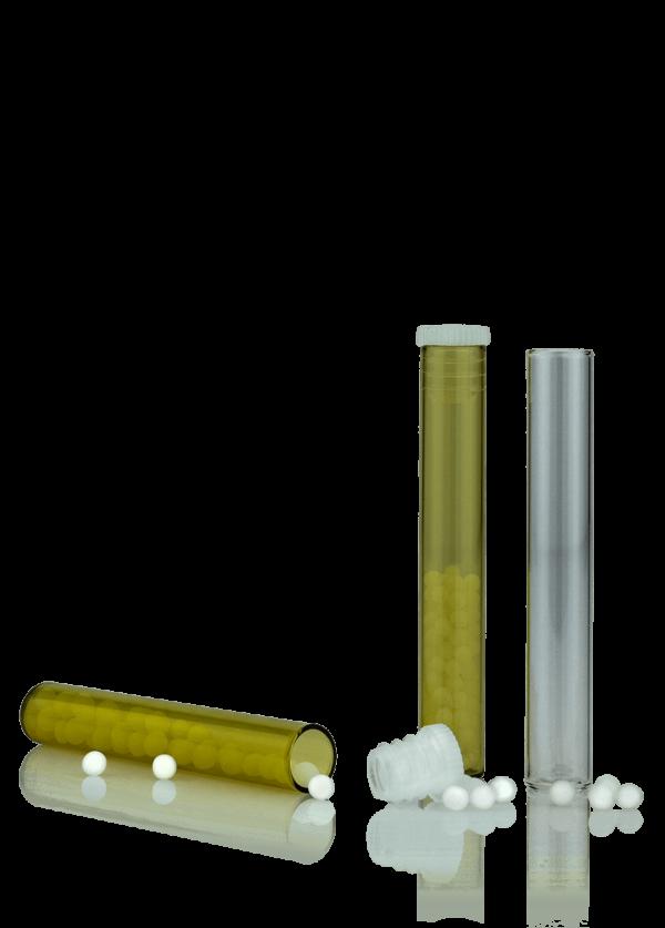 Tubular glass with flat bottom