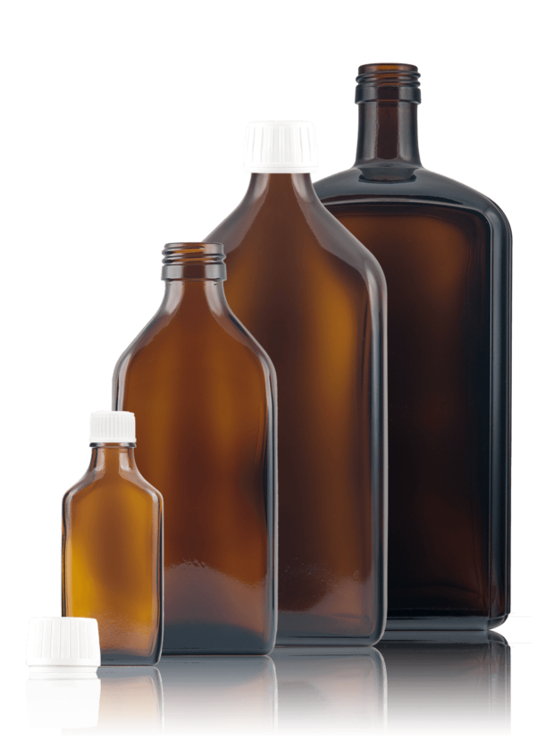 Square medicine bottle