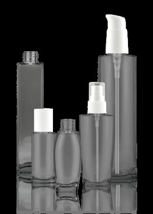 Glass polymer bottle
