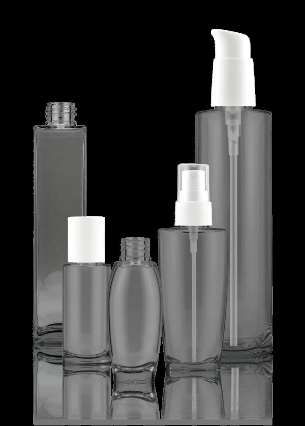 Glass-Polymer-Flasche