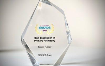 """Ausgießer """"Lotus"""" gewinnt Pharmapack Award 2020"""