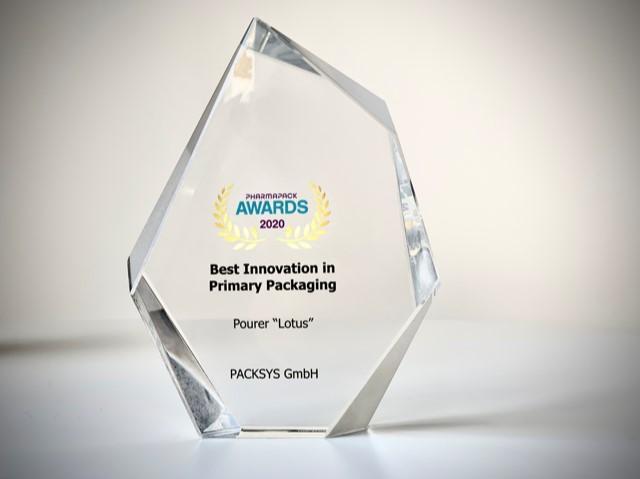 """Pourer """"Lotus"""" wins Pharmapack Award 2020"""