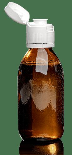 Lotus weiß auf Flasche